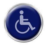 Tasto per gli handicappati Fotografie Stock