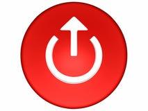 tasto rosso 3d Immagini Stock Libere da Diritti