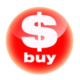 Tasto rosso del buy Immagini Stock