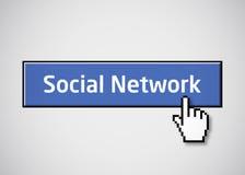 Tasto sociale della rete Fotografia Stock
