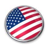 Tasto Stati Uniti della bandiera Fotografia Stock Libera da Diritti