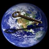Tasto a successo globale Immagine Stock