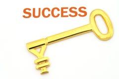 Tasto a successo - Yen Fotografia Stock