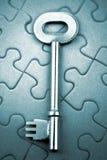 Tasto sul puzzle fotografia stock