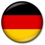 Tasto tedesco della bandierina Fotografie Stock Libere da Diritti