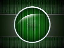 Tasto verde fotografie stock