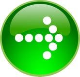 Tasto verde della freccia Immagini Stock