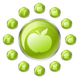 Tasto verde della mela Fotografie Stock Libere da Diritti