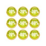 Tasto verde di sconto illustrazione di stock
