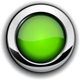 Tasto verde lucido. illustrazione di stock