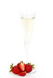 Tasty alcohol cocktail with strawberry Stock Photo