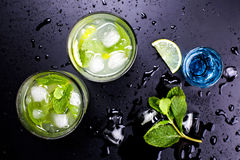 Tasty Alcoholic Coctails Royalty Free Stock Photo