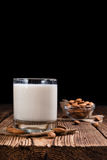 Tasty Almond Milk (selective focus) Stock Images