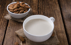 Tasty Almond Milk (selective focus) Stock Photos