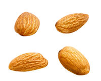 Tasty almonds isolated on the white background Stock Image