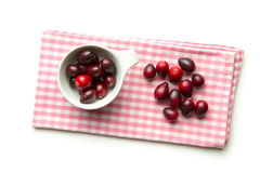 The tasty american cranberries. Stock Photo