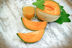 Free Tasty And Juicy Melon - Cantaloupe And Melon Juice Smoothie On Rustic Table Royalty Free Stock Photo - 92728415