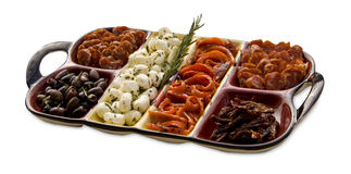 Tasty antipasto platter Stock Photo