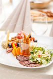 Tasty appetizer plate Royalty Free Stock Photos