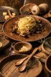 Italian pasta background stock photo