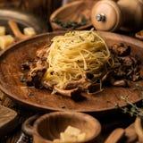 Italian pasta background stock photography
