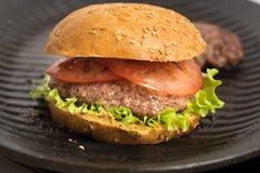 Tasty and appetizing hamburger cheeseburger Stock Photography