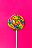 Tasty appetizing Party Accessory Sweet Swirl Candy Lollypop on P Royalty Free Stock Image