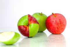 Tasty apples are meeting Royalty Free Stock Photo