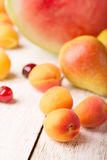 Tasty apricot and other fruits Royalty Free Stock Image