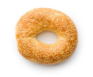 Tasty bagel with sesame seed Stock Photos