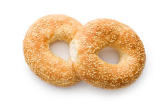 Tasty bagel with sesame seed Royalty Free Stock Photography