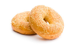 Tasty bagel with sesame seed Stock Photography