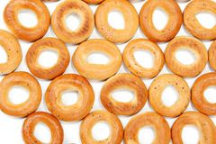 Tasty bagels put in the manner of background Stock Photography