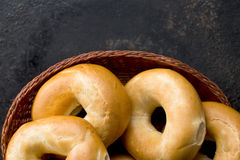Tasty bagels Stock Photo