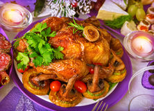 Tasty baked chicken Royalty Free Stock Photos