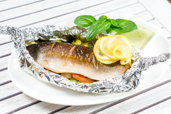 Tasty baked fish Royalty Free Stock Photo