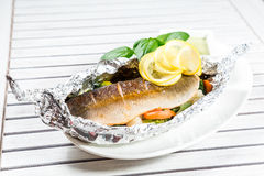 Tasty baked fish Royalty Free Stock Image