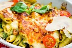 Tasty Baked Italian pasta Stock Image