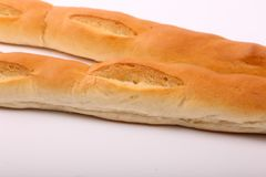 Tasty baked Loaves. On white background stock photography