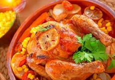 Tasty baked Thanksgiving turkey Stock Photos
