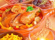 Tasty baked Thanksgiving turkey Royalty Free Stock Image