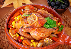 Tasty baked turkey Royalty Free Stock Images