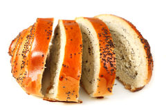 Tasty baking roll with poppy Stock Image