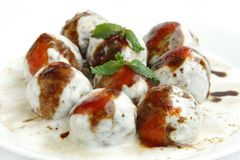Tasty banana dahi vada Royalty Free Stock Image