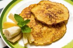 Tasty Banana pancakes Royalty Free Stock Photo