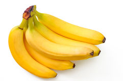 Tasty bananas isolated on the white. The tasty bananas isolated on the white Royalty Free Stock Images