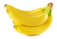 Tasty bananas isolated on the white background Stock Images