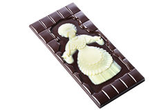 Tasty bar of dark and white chocolate Stock Photography