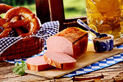 Tasty Bavarian tavern lunch Royalty Free Stock Photo