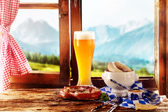 Tasty Bavarian or Tyrolean food for Oktoberfest Stock Images